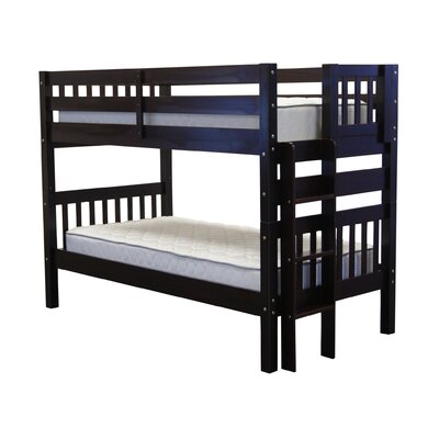 Mission Twin over Twin Bunk Bed Color: Cappuccino