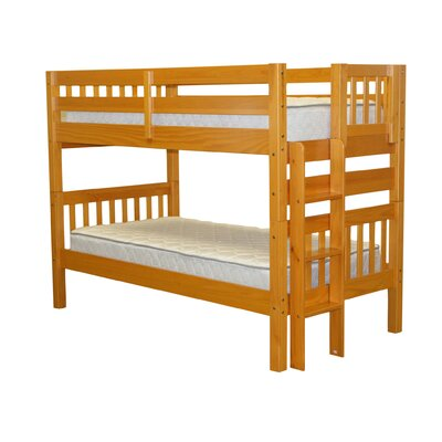 Mission Twin over Twin Bunk Bed Finish: Honey