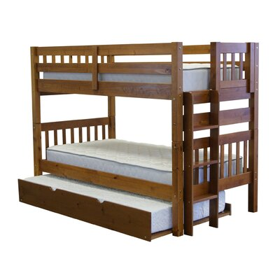 Twin over Twin Bunk Bed with Trundle Finish: Espresso