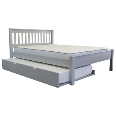 Mission Tall Full Panel Bed with Trundle Trundle Size: Twin