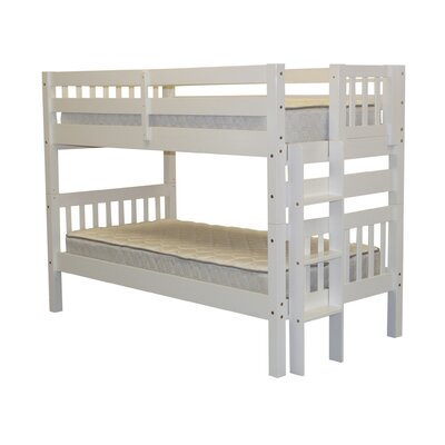 Mission Twin over Twin Bunk Bed Color: White