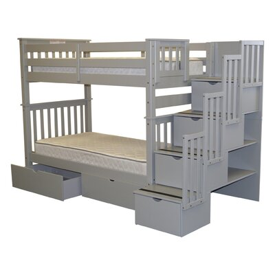 Tall Twin over Twin Bunk Bed with Storage