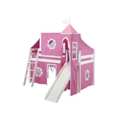 Princess Low Loft Bed Finish: White