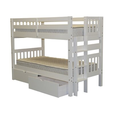 Mission Twin over Twin Bunk Bed with Storage Finish: White