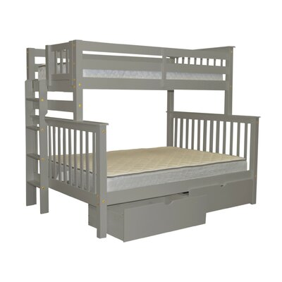 Mission Twin over Full Bunk Bed with Storage