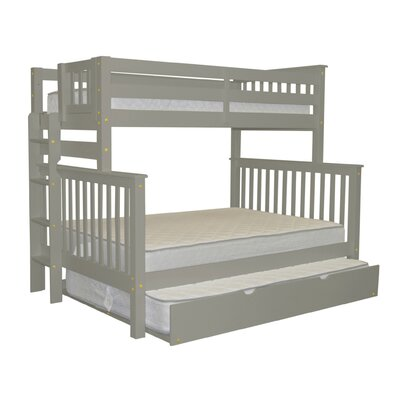 Mission Twin over Full Bunk Bed with Trundle Trundle Size: Full