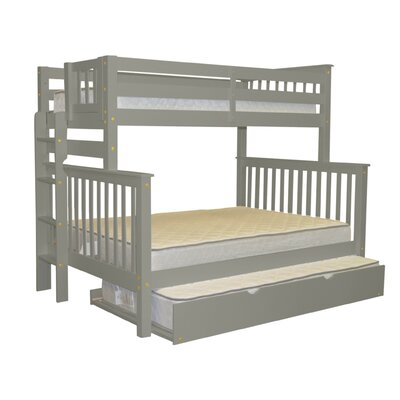 Mission Twin over Full Bunk Bed with Trundle Trundle Size: Twin