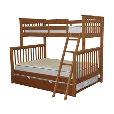 Twin over Full Bunk Bed with Trundle Finish: Espresso