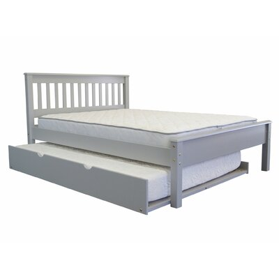 Full Panel Bed with Trundle Trundle Size: Full