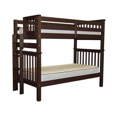 Mission Twin Bunk Bed Finish: Cappuccino