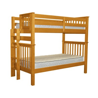 Mission Tall Twin Over Twin Bunk Bed Finish: Honey