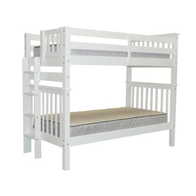 Mission Tall Twin over Twin Bunk Bed Bed Frame Color: White