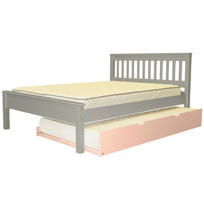 Mission Full Slat Bed with Trundle Bed Frame Color: Gray/Pink