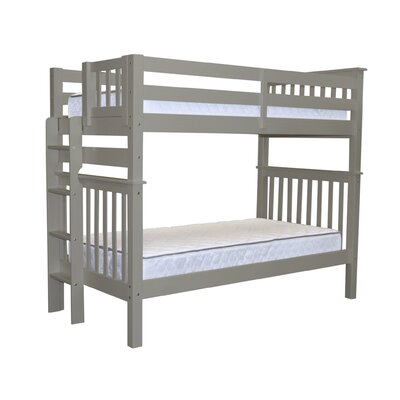 Mission Tall Twin over Twin Bunk Bed Bed Frame Color: Gray