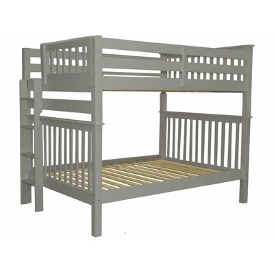 Mission Full over Full Bunk Bed Bed Frame Color: Gray