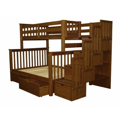 Stairway Storage Drawer Bunk Bed Bed Frame Color: Espresso
