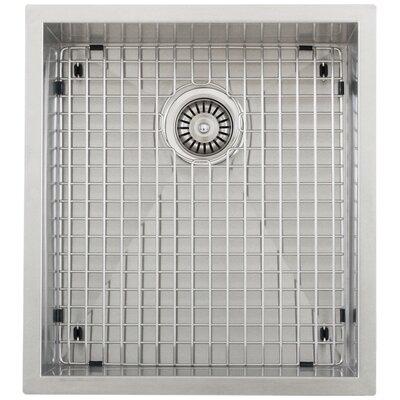 Ticor 18-1/2 X 20-1/2 Inch Zero Radius 16 Gauge Stainless Steel Single Bowl Square Undermount Kitchen Sink