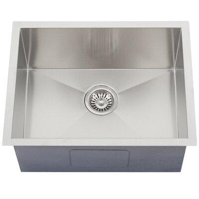 Ticor 22-1/2 X 17-1/2 Inch Zero Radius 16 Gauge Stainless Steel Single Bowl Square Undermount Kitchen Sink