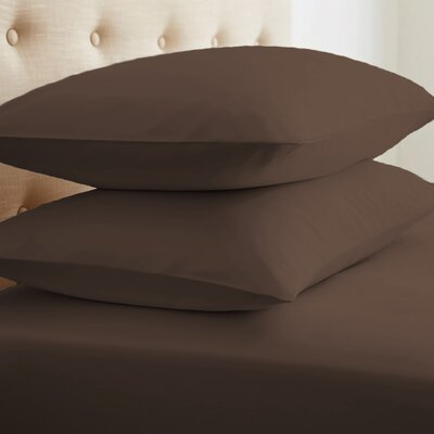 Roscoe Premium Double-Brushed Pillow Case Color: Chocolate, Size: Standard