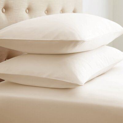 Grange Premium Double-Brushed Pillow Case Size: Standard, Color: Cream