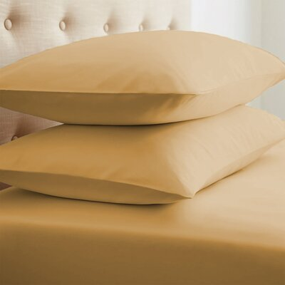 Grange Premium Double-Brushed Pillow Case Size: Standard, Color: Gold