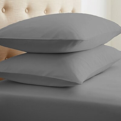 Grange Premium Double-Brushed Pillow Case Size: Standard, Color: Gray