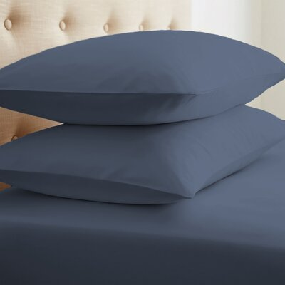 Grange Premium Double-Brushed Pillow Case Size: Standard, Color: Navy