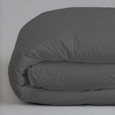 Plush All Season Down Alternative Comforter Color: Gray, Size: King / California King