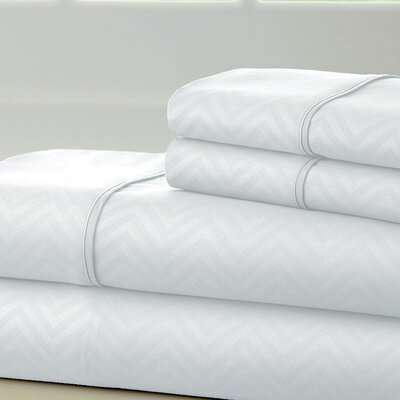 Becky Cameron Chevron Sheet Set Color: White, Size: Full