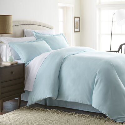 Moran Duvet Set Color: Aqua, Size: Twin