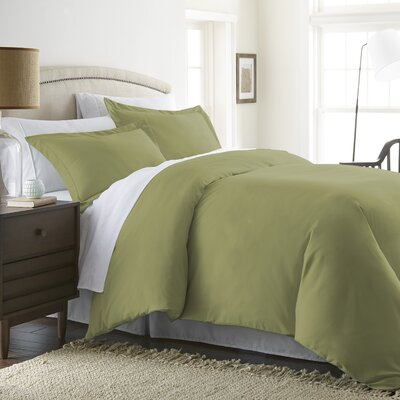 Moran Duvet Set Color: Sage, Size: King