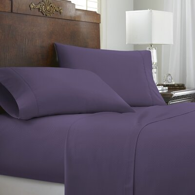 Franky Chevron Sheet Set Size: California King, Color: Purple