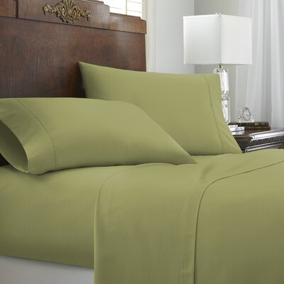 Franky Chevron Sheet Set Color: Sage, Size: Queen