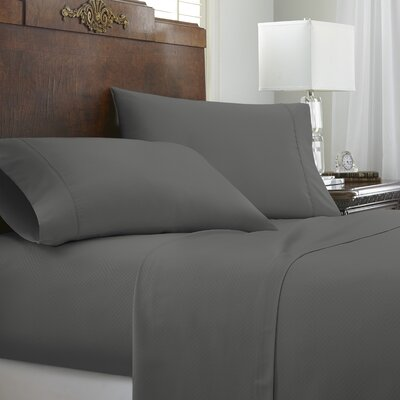 Franky Chevron Sheet Set Color: Gray, Size: California King