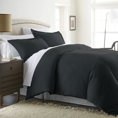 Moran Duvet Set Color: Black, Size: Queen