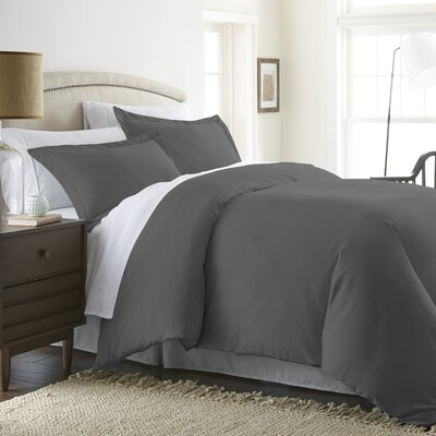 Moran Duvet Set Color: Gray, Size: King