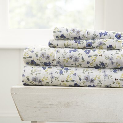 Perley Premium Ultra Soft Blossoms Pattern Sheet Set Size: King