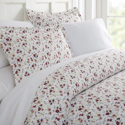 Bjarne Premium Ultra Soft Blossoms Print Duvet Set Size: Queen, Color: Pink