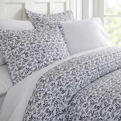 Kaminsky Duvet Set Size: King, Color: Navy