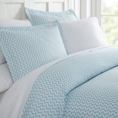 Elnora Duvet Set Size: Twin, Color: Light Blue