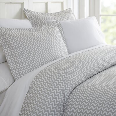 Elnora Duvet Set Size: King, Color: Light Gray