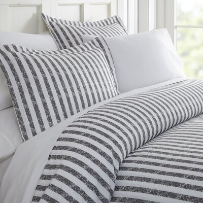 Sylvestor Duvet Set Size: Queen, Color: Gray