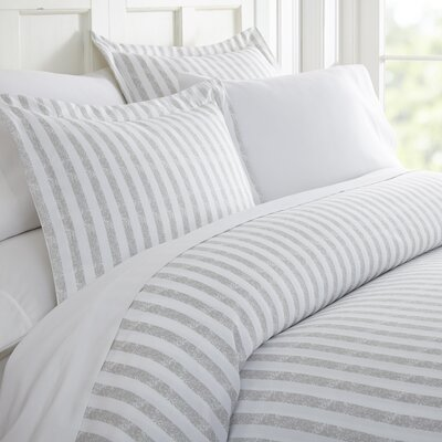 Sylvestor Duvet Set Size: Queen, Color: Light Gray