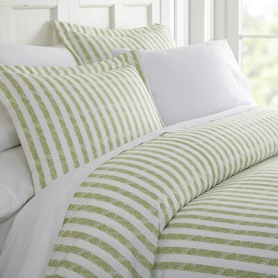 Sylvestor Duvet Set Size: King, Color: Sage