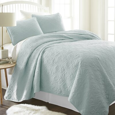 Marnell Coverlet Set Size: Twin/Twin XL, Color: Pale
