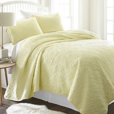 Marnell Coverlet Set Size: King/California King, Color: Yellow