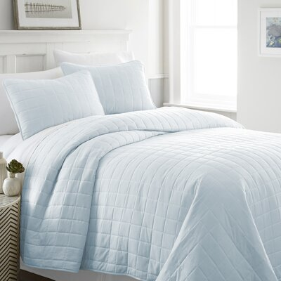 Purvi Coverlet Set Size: King/California King, Color: Pale