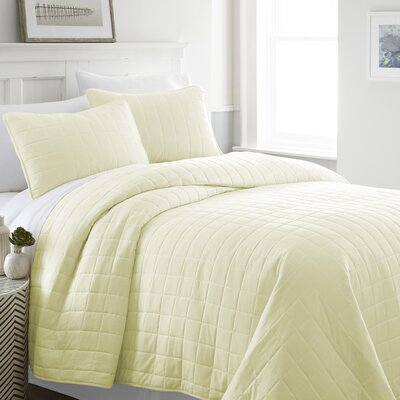 Purvi Coverlet Set Size: Queen/Full, Color: Yellow