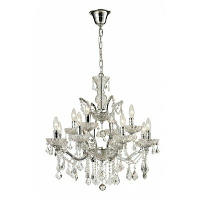 12-Light Candle Style Chandelier Finish: Chrome