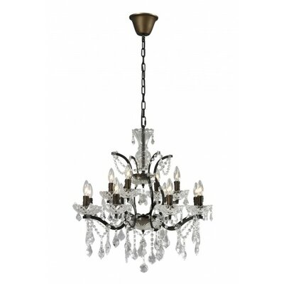 12-Light Crystal Chandelier Finish: Rustic
